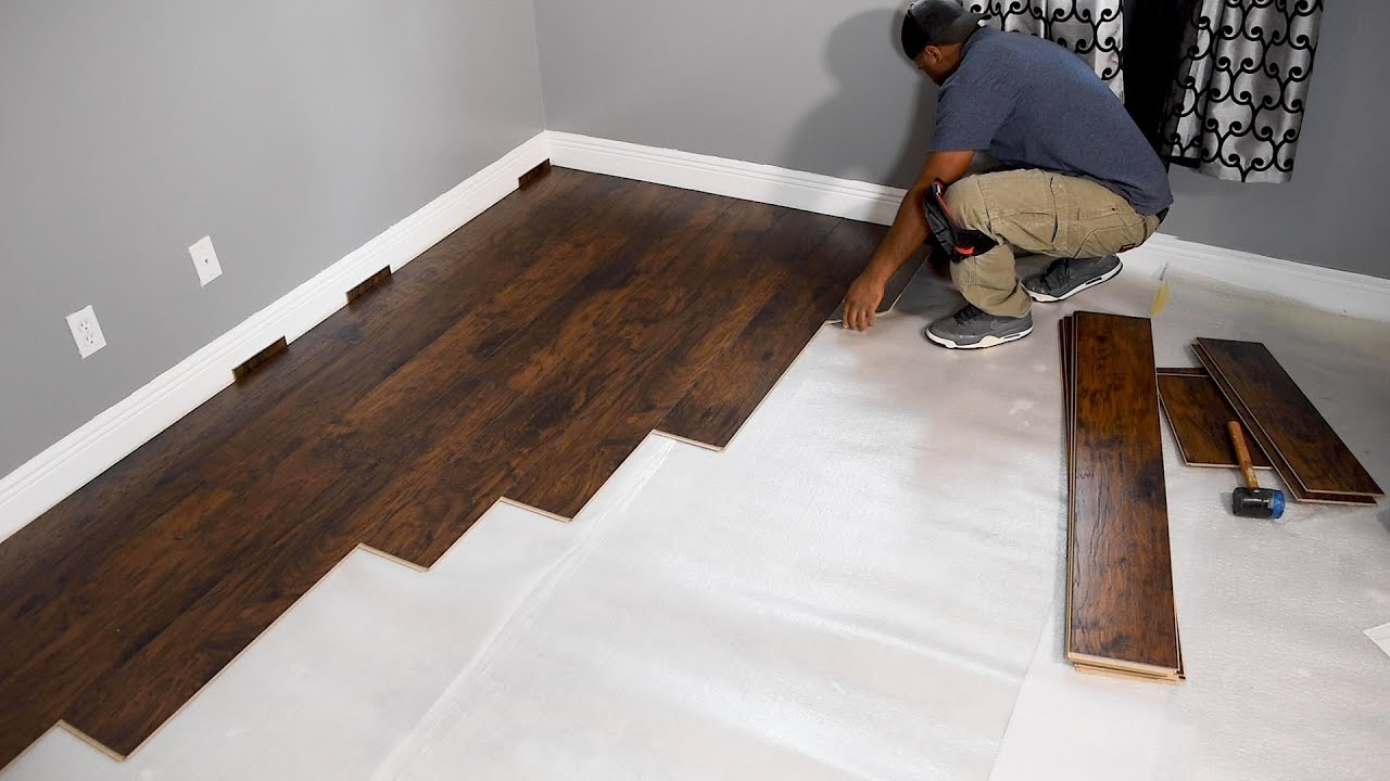 watch floor to hardwood install youtube how a floating